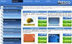 PRESCO – Logiciel de stimulation et de rééducation des fonctions cognitives