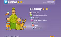 Exalang 5-8 ans est un bilan orthophonique pour l'examen du langage oral et ecrit chez les enfants