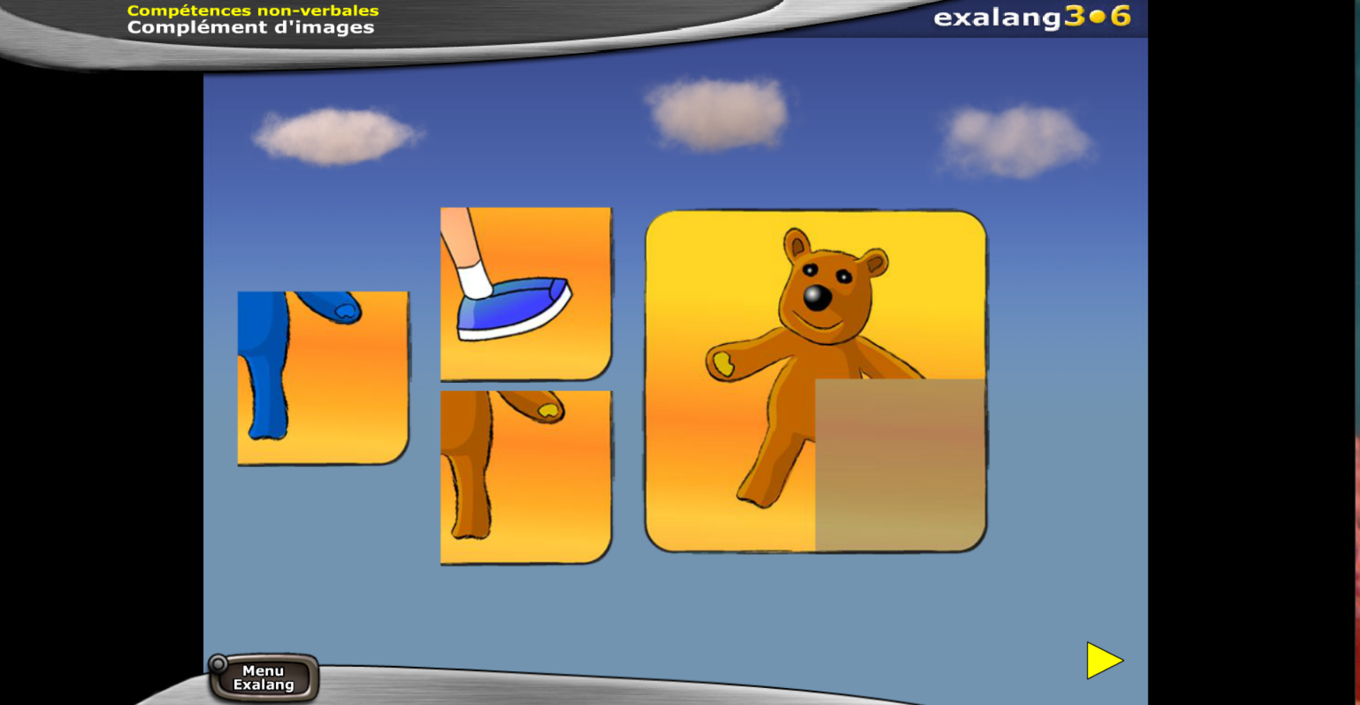 Exalang 3-6 logiciel de bilan de langage oral et écrit et test de langage des patients de 3 à 6 ans