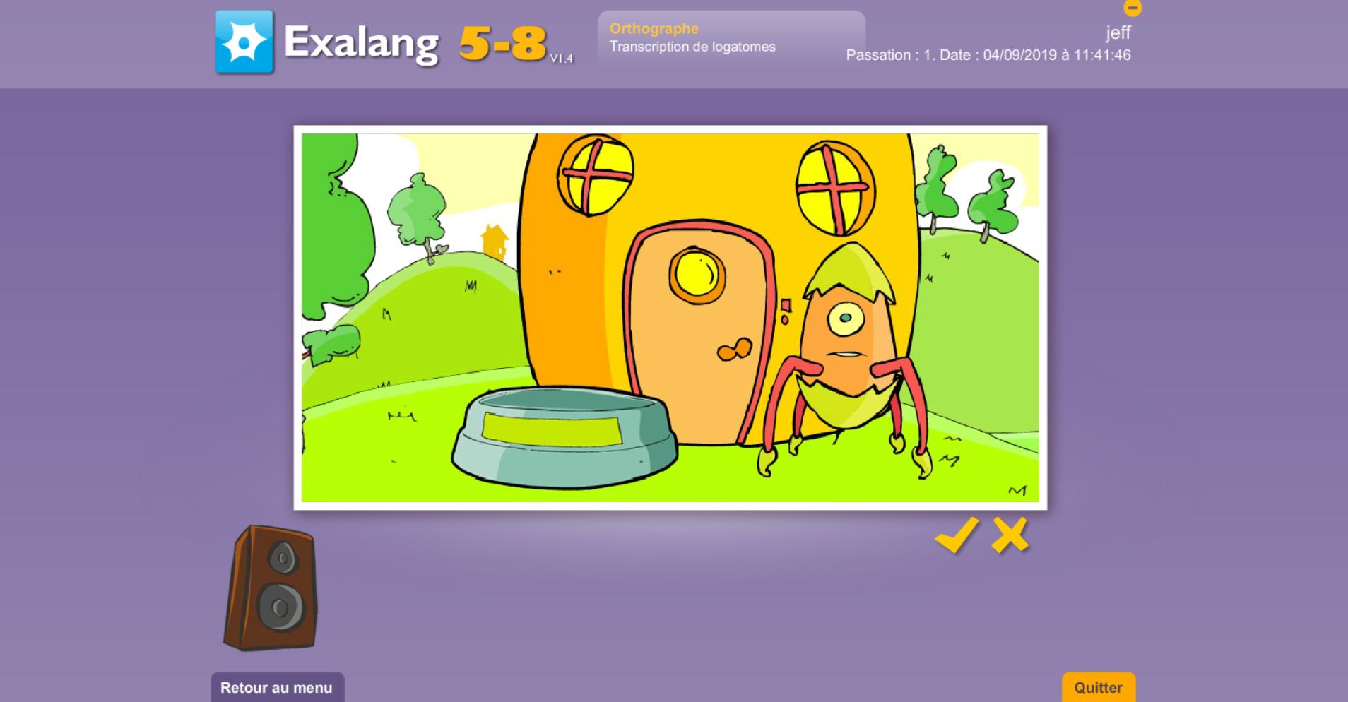 Exalang 5 8 logiciel de bilan de langage oral et écrit et test de langage des enfants de 5 à 8 ans- orthographe et transcription de logatomes
