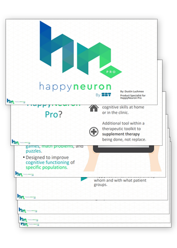 HappyNeuronPro Presentation