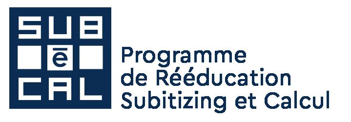 Subécal subitizing, numération, quantification, sens du nombre : le logiciel Subécal pour la rééducation de la cognition mathématique et la dyscalculie. Logo