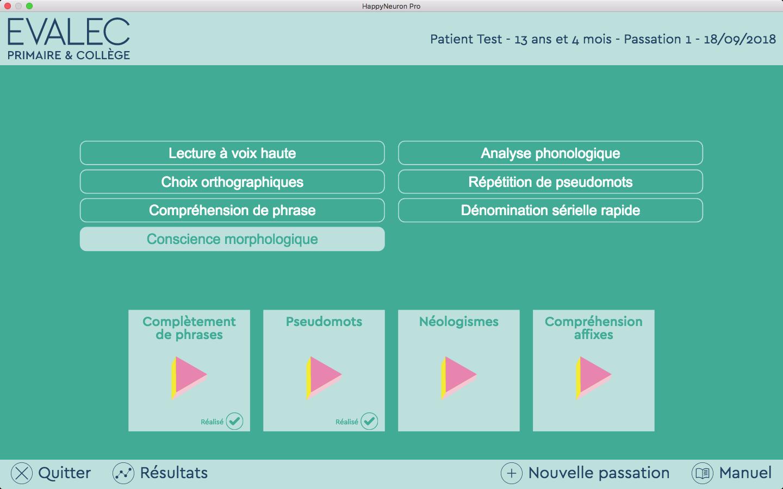 Evalec logiciel de bilan pour l'évaluation de la lecture