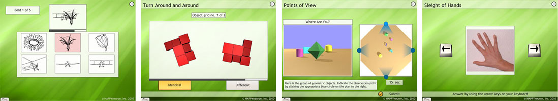 cognitive exercises visual spatial