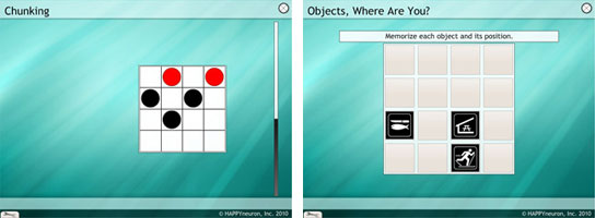cognitive therapy exercises spatial memory