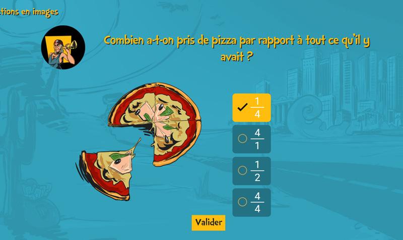 Examath 8 15 : test dyscalculie et bilan orthophonique mathématique pour les 8-15 ans : Bilan informatisé des habiletés mathématiques, évaluation de la cognition mathématique - item pizza