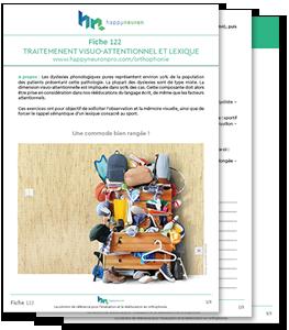 Fiche de travail gratuite N°122, pour l'orthophonie