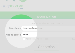 Happyneuron @lamaison - retrouver son identifiant et mot de passe