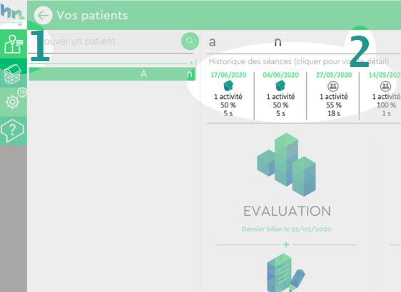 Logiciel Orthophonie Happyneuron : Accéder aux résultats et détails des activités du patient